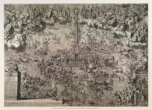 Plakát - Staroměstský Mariánský sloup jako geografický i duchovní střed Evropy,