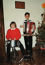 Dominique et Stephanie à Noël 1995