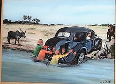Peinture sur verre de Omar Cissé