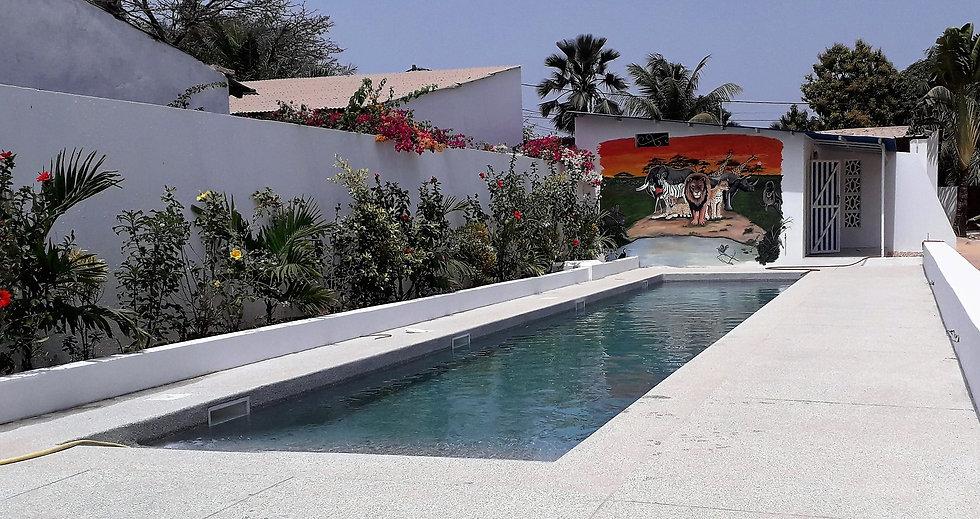 campement avec piscine