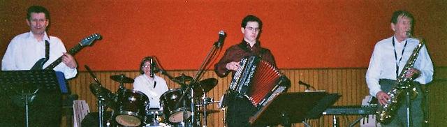 en 2002 pour la St Blaise avec Jacky et Jean Garsault