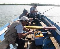 Cham, Christian et Tito à la pêche