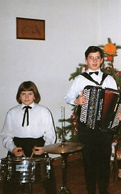 Dominique et Stephanie à Noël 1996
