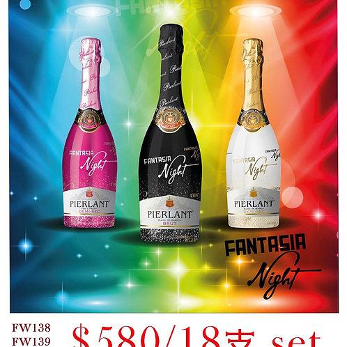 FW138/FW139/FW140 Pierlant fantasia night white / rose 1/2 sec / brut