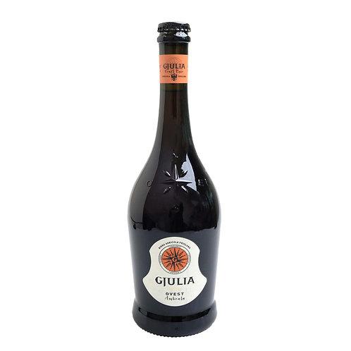 IW111 GJULIA Birra artigianale Friulana - OVEST Ambrata 750ml 7%