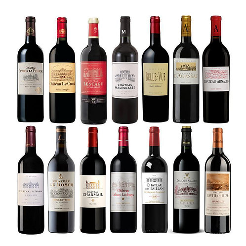 14 Cru Bourgeois Exceptionnel 2018 Limited wooden case (FR752>FR765)