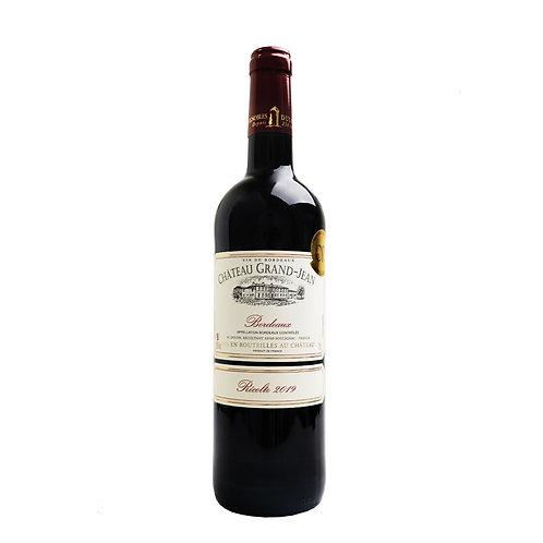 FR589AOC Bordeaux Rouge Chateau Grand Jean 2019 CRD 75 CL