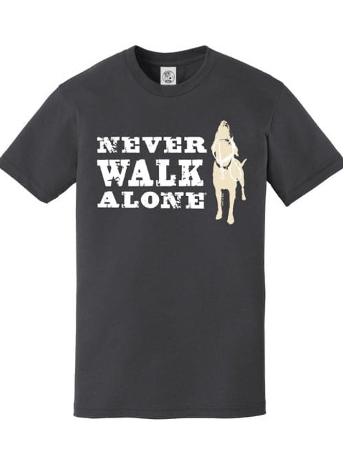 Never walk alone t- shirt navy blue