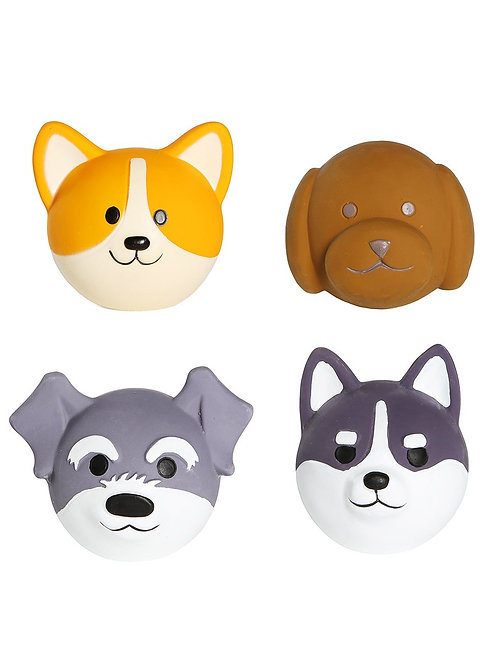 [For DOGS] Dog Head Chew Toy