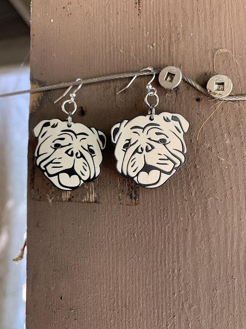 Bull Dog Earrings # 1412