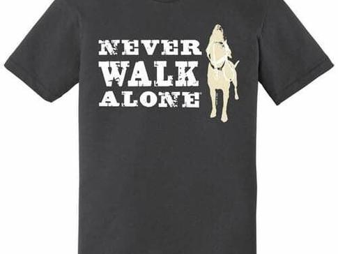 Never Walk Alone dog is good mens t.jpg
