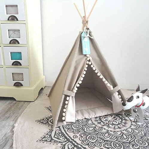 Dog House Play Teepee Tent Lovely Warm Dog/Cat Play Bed With Mat Together