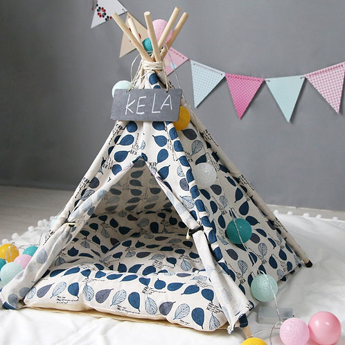 Tent Dog Crate Foldable Cat Bed Dog Kennel Puppy House Teepee Gatos Cushion