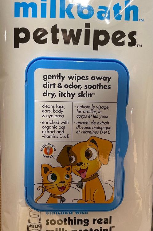 Pet Wipes 100 ct milk
