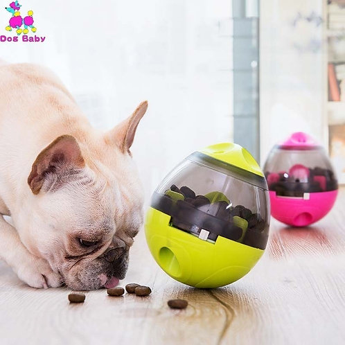 Challenge Food Container Puppy Cat Slow Feed Pet Tumbler Toy