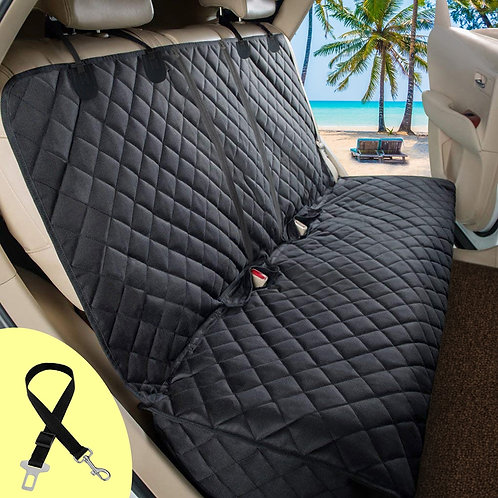 Car Rear Back Mat Pet Dogs Cushion Protector With Middle Seat Armrest