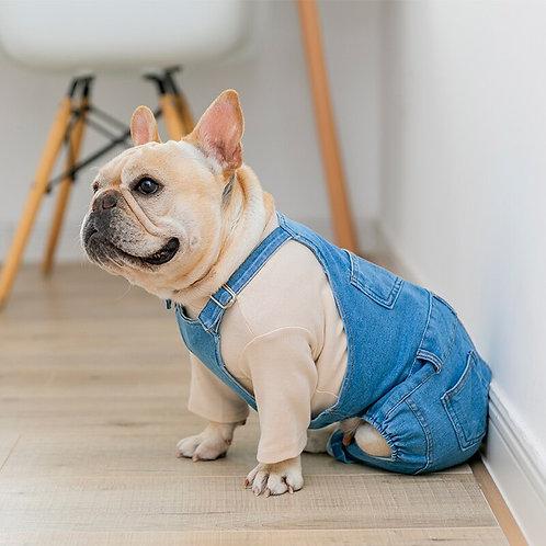 [MPK Dog Denim Overalls] Dog Denim Dungarees, Dog Jeans
