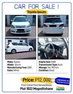 Car Sales Gaborone A-05