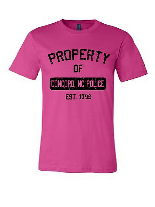 concord pd breast cancer shirt- PICK UP POLICE STATION