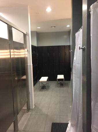 Locker Room with Showers