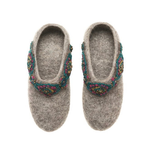 Jeweled Cuff Slippers