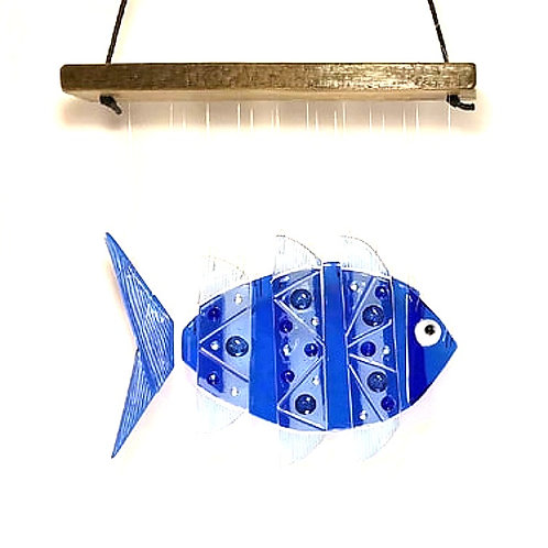 Blue Fish Wind Chime