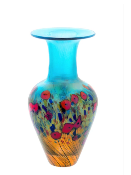 California Poppy, Medium Classic Vase