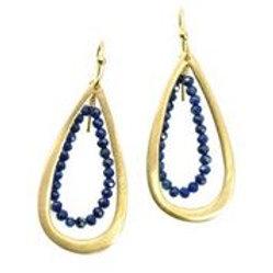 Lapis Hoop Earrings