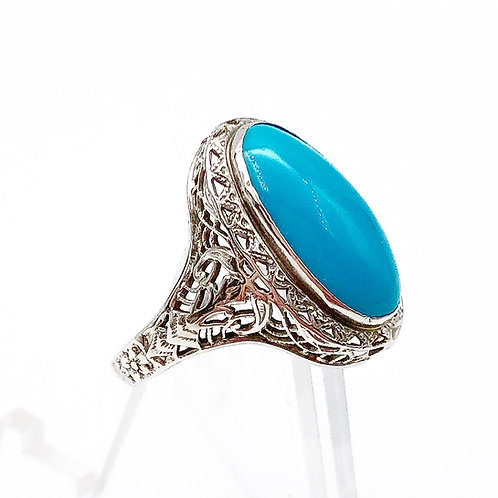 Art Deco Turquoise Ring