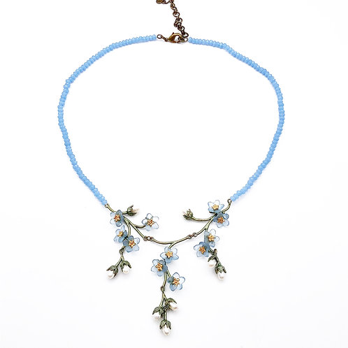 Forget-Me-Knot Flower Necklace