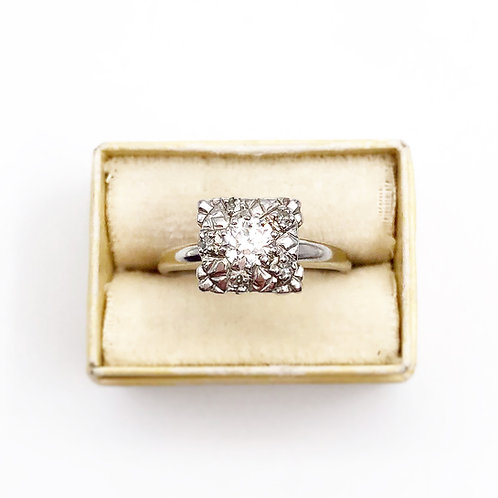 Timeless Platinum Diamond Cluster Ring