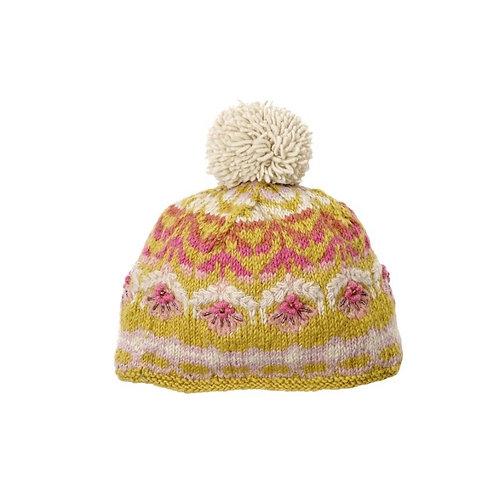 Cozy Floral Hat