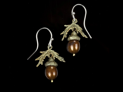 Acorn Fish Hook Earrings