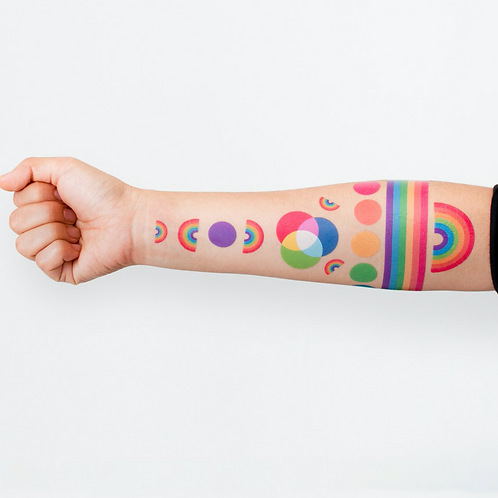 Rainbow Tattoo Set