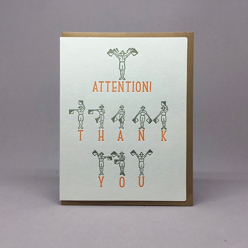 Attention Thank You Card