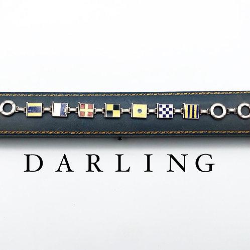 """Darling"" Nautical Flag Bracelet"