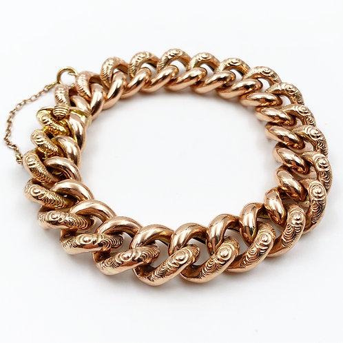 Chunky Rose Gold Linked Bracelet