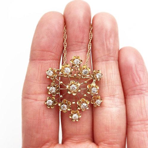 Antique Snowflake Diamond Necklace
