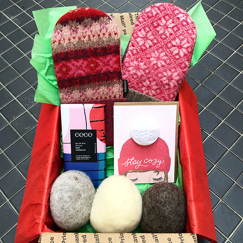 """Stay Cozy"" Gift Box with Michigan Made Products"