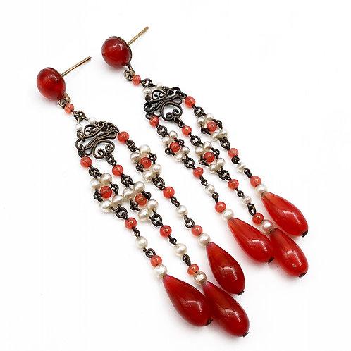 Cornelian Chandelier Earrings