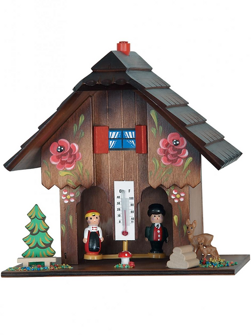 Weather House With Thermometer