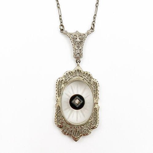 14k Camphor Glass Necklace