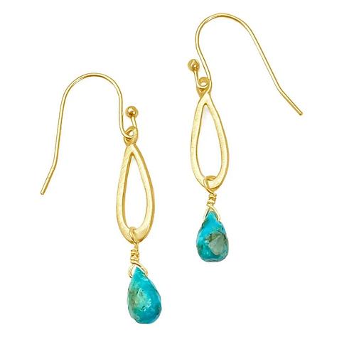 Little Drop Turquoise Earrings