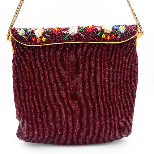 Red Glass Beaded Bag