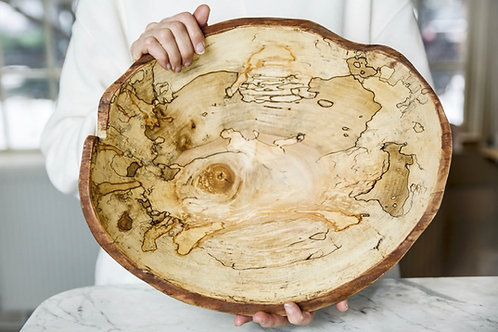 """15"""" Live Edge Spalted Maple Bowl"""