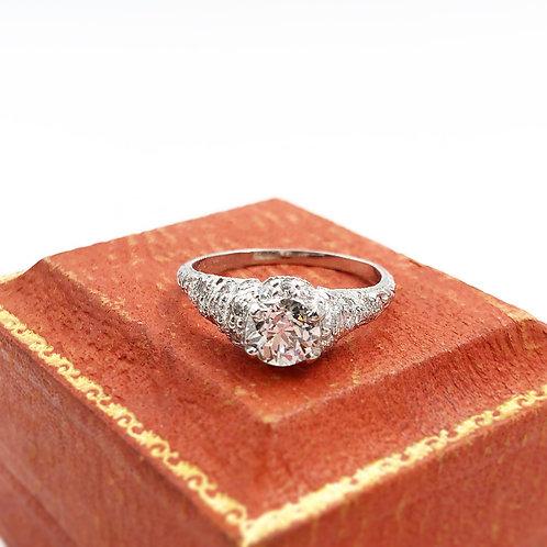 Platinum Approx. 1.00 carat Diamond Ring