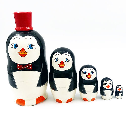 5 Piece Nesting Penguins
