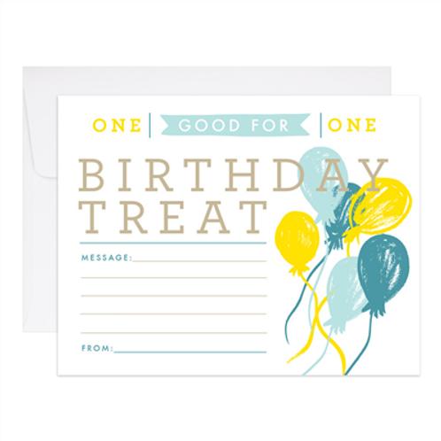 Birthday Treat Card