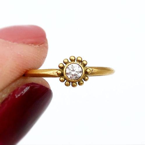 Dainty Diamond Flower Ring