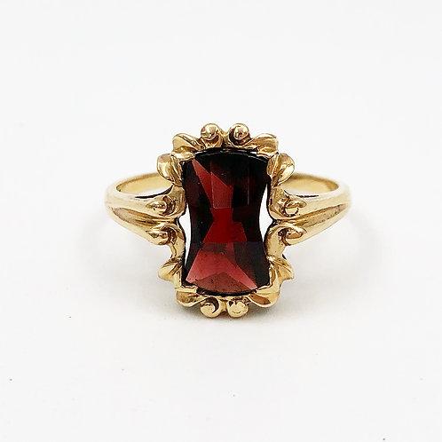 Fancy Cut Garnet Ring
